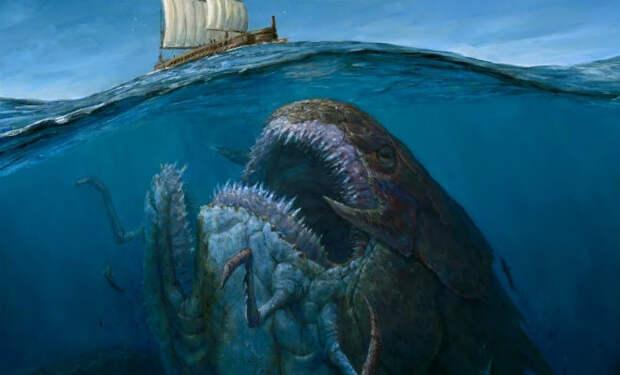 Морские монстры, которые сочли корабли едой