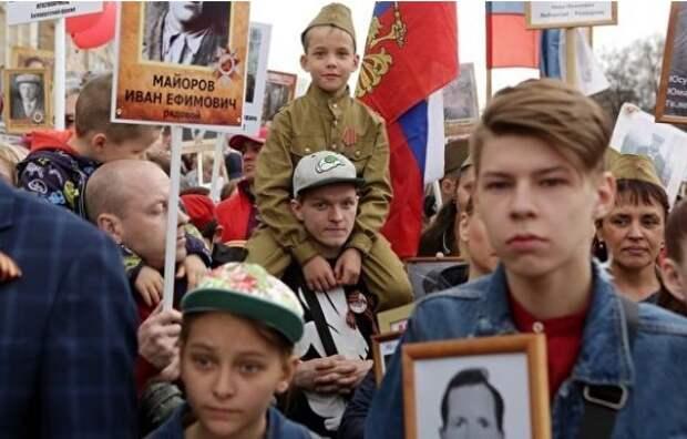 В Грузии запретили использовать советскую символику во время «Бессмертного полка»