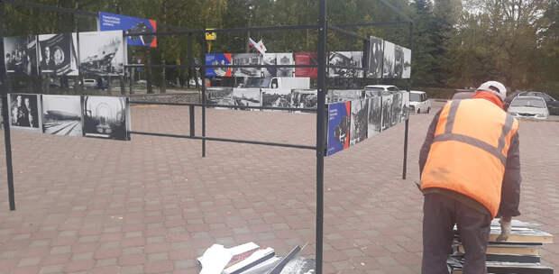 Поврежденную вандалами выставку в Приокском районе смогли восстановить