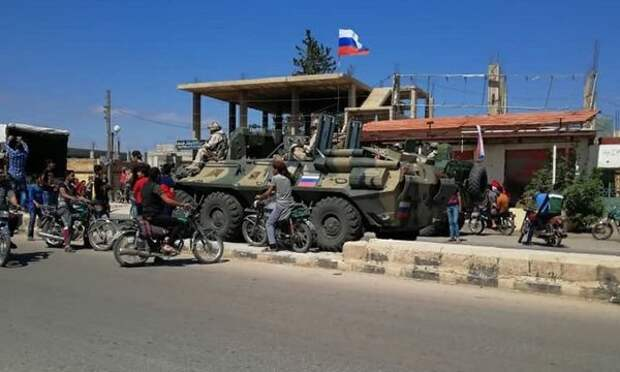 БТР-82А на службе российской военной полиции в Даръа