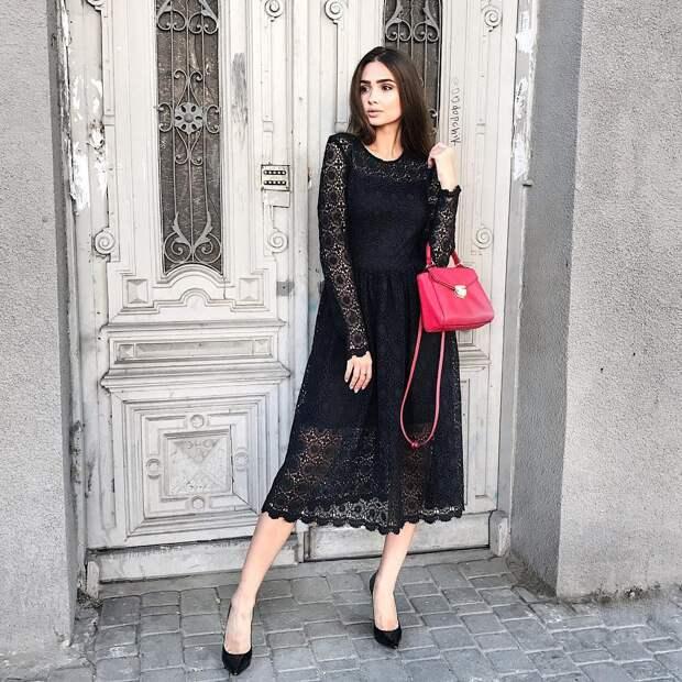 Утонченная леди: 25 способов эффектно носить платья с длинным рукавом