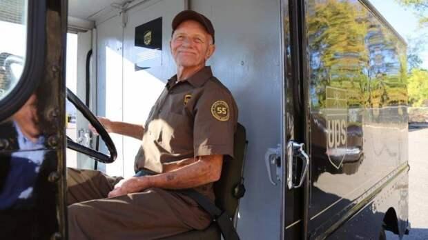 55 лет за рулем без единой аварии авария, авто, водитель, достижение, дтп, рекорд, служба доставки, стаж