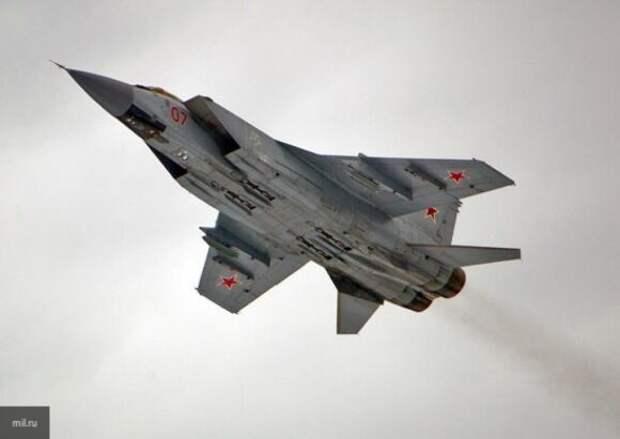 Российский МиГ-31 перехватил два бомбардировщика США над Беринговым морем