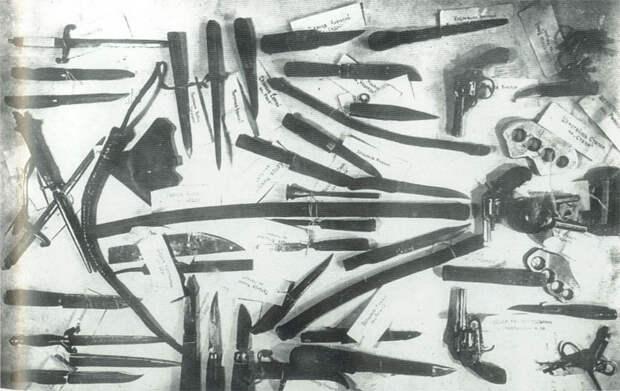 Оружие, изъятое у банды братьев Шемогайловых. 1934 г.