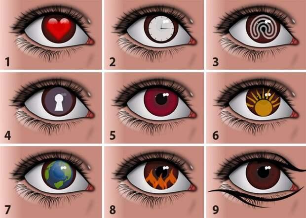 Тест: выберите глаз и узнайте что-то интересное о своей личности