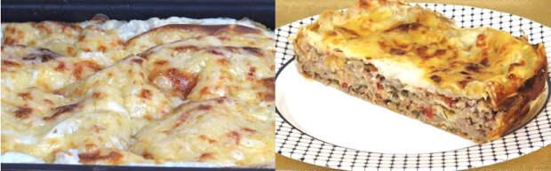 лазанья с мясом в духовке