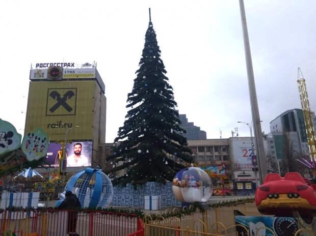 Главную новогоднюю елку Краснодара планируют открыть 18 декабря