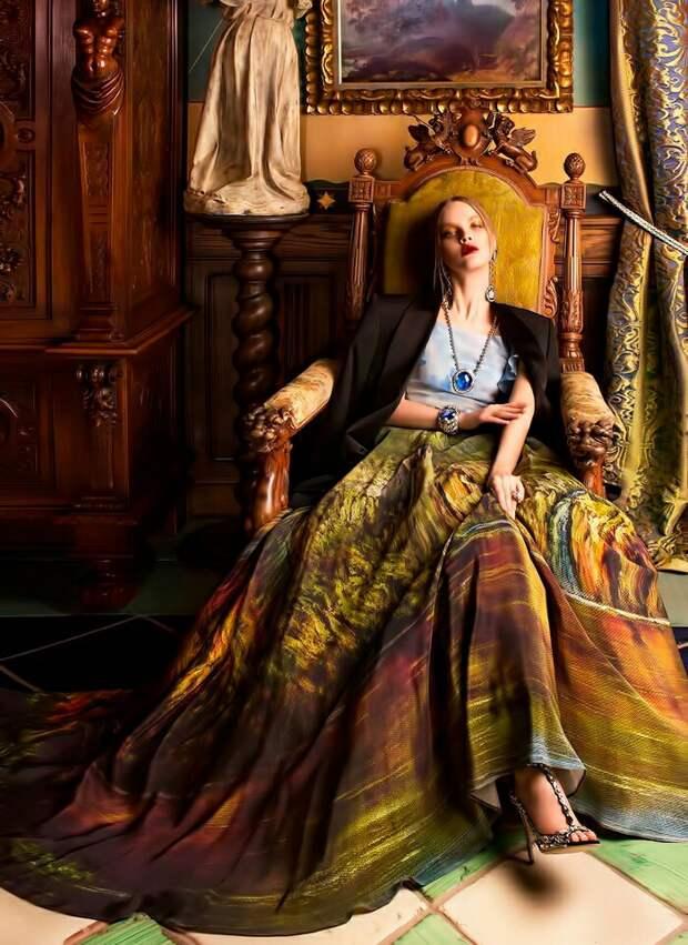 Платья по картинам Никаса Сафронова