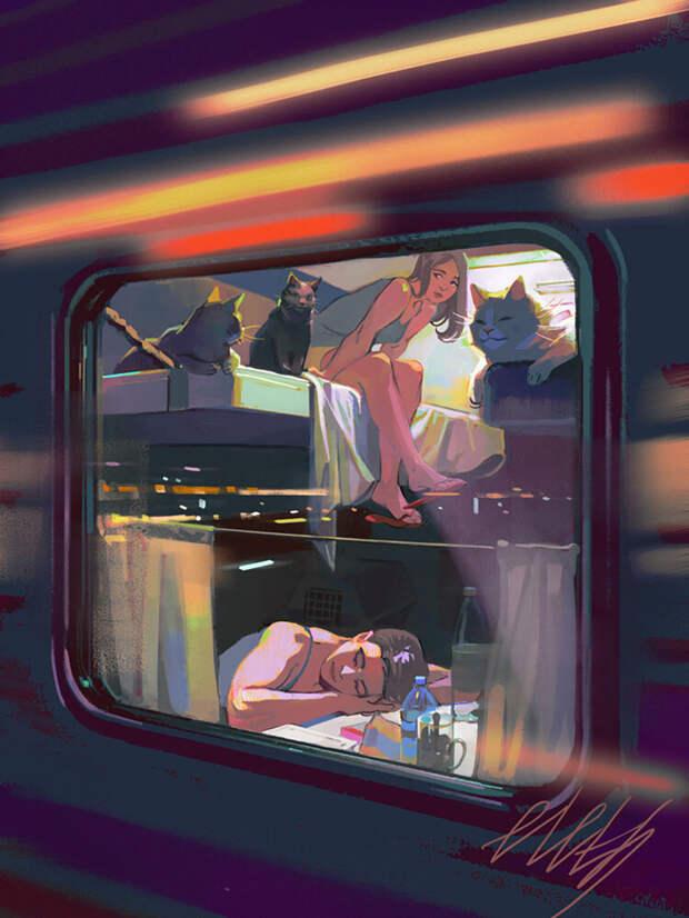 Как очаровательные молодые ведьмы ездят на наших поездах (КАРТИНКИ)
