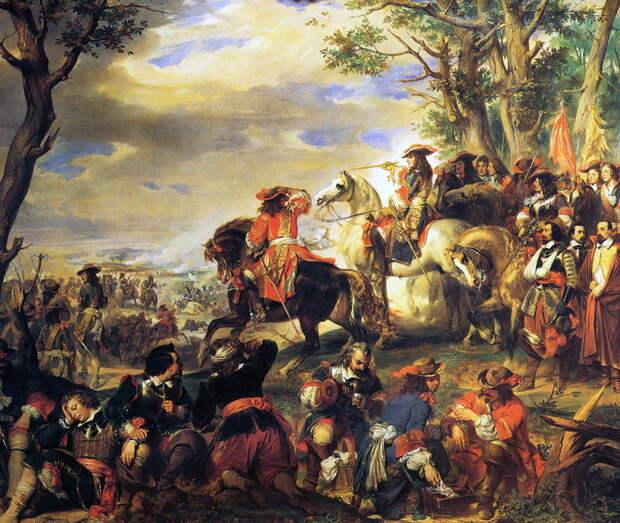 Битва при Марсалье, 4 октября 1693 года. Художник Эжен Девериа - Шпион, выйди вон | Warspot.ru