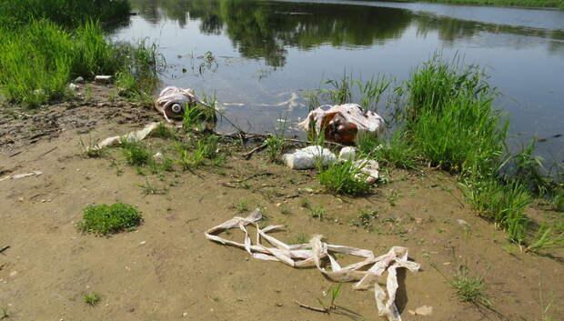 Водную акваторию реки Яузы в Мытищах очистили от мусора на субботнике