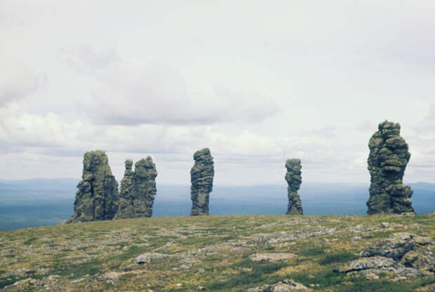 Каменные останцы в верховьях Печоры, Республика Коми