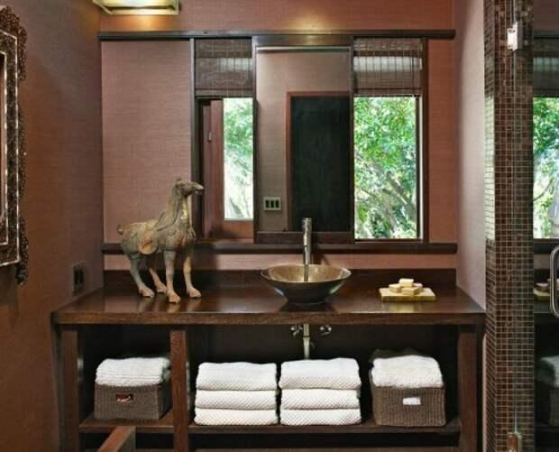 Темные оттенки для ванной комнаты