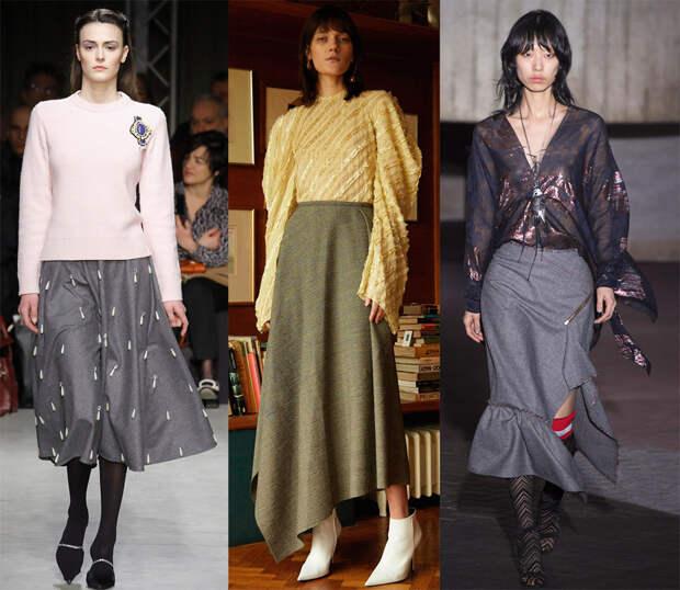 Модные теплые юбки