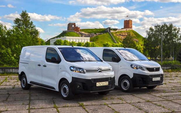 Фургоны Citroen Jumpy и Peugeot Expert: вся разница - в шильдиках