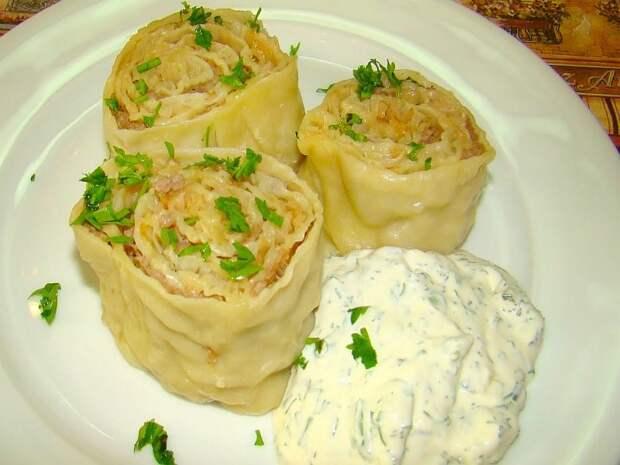 Узбекский Ханум — великолепное блюдо узбекской кухни. Вкус — пальчики оближешь!