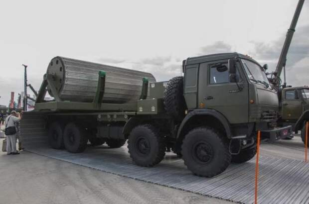 Комплекс временных дорог на базе грузовика КамАЗ