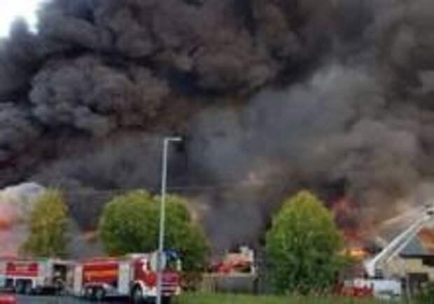 Крупный пожар произошел в Финляндии