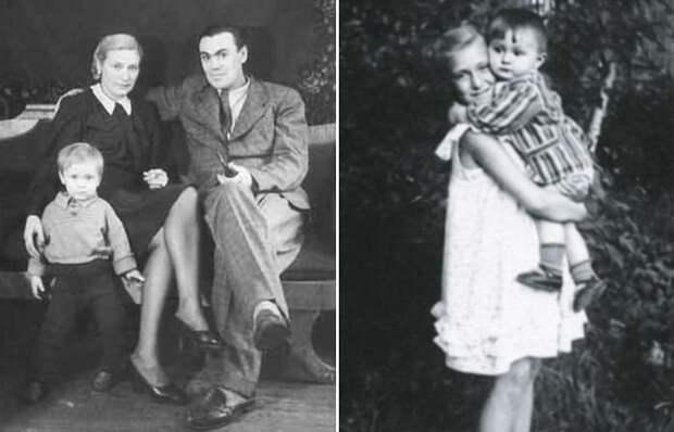Екатерина Васильева в детстве с родителями и младшим братом | Фото: sovsekretno.ru, starhit.ru