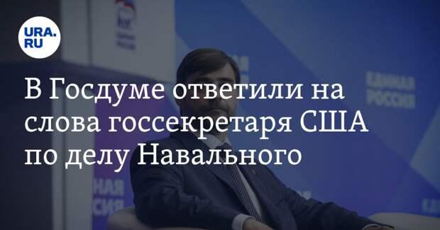 В Госдуме ответили на слова госсекретаря США по делу Навального