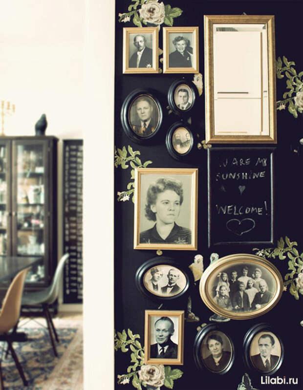Украшение стен фотографиями