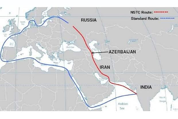 Станетли МТК Север-Юг ч/з Иран альтернативой Суэцкому каналу?
