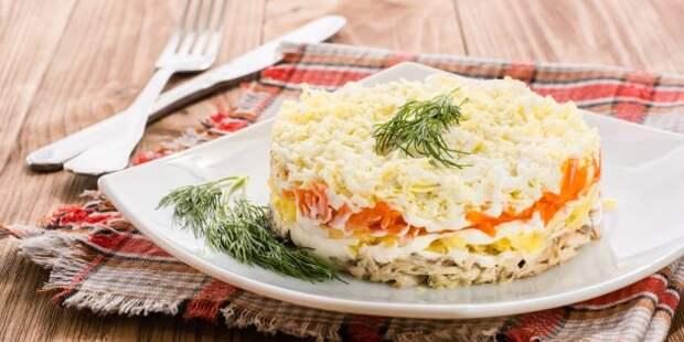 Классический салат «Мимоза» с картофелем и морковью: простой рецепт