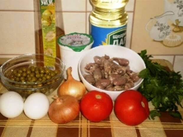 Салат из куриных сердечек — лёгкий и вкусный деликатес