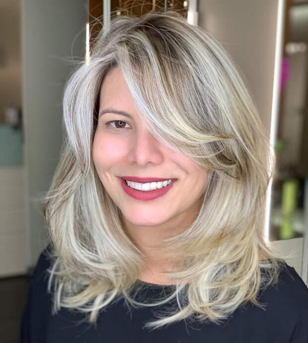 Стрижки после 50 лет на средние волосы 2020 фото 10
