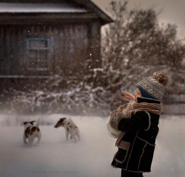 KidsWithAnimals16 Россиянка создает потрясающие фотографии своих детей с животными в деревне