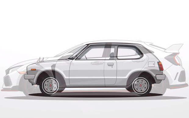 Honda Civic: 44 года и 10 поколений за 1 минуту видео