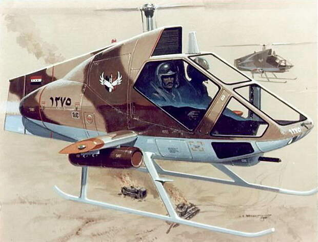 Одноместный ударно-разведывательный вертолёт Model-276, поздний вариант - Нетрадиционная любовь Бруно Наглера | Warspot.ru