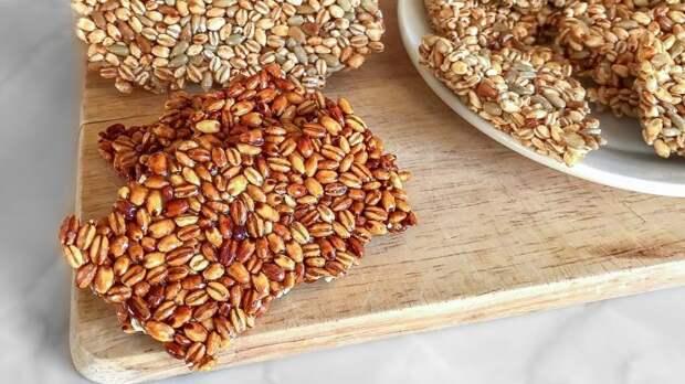 Козинаки из перловки. \ Фото: youtube.com.