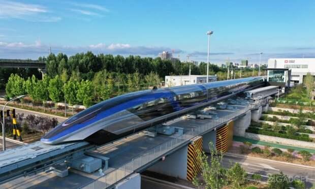 В Китае показали самый быстрый поезд на магнитной подушке
