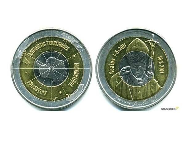 Незаконные монеты Антарктиды