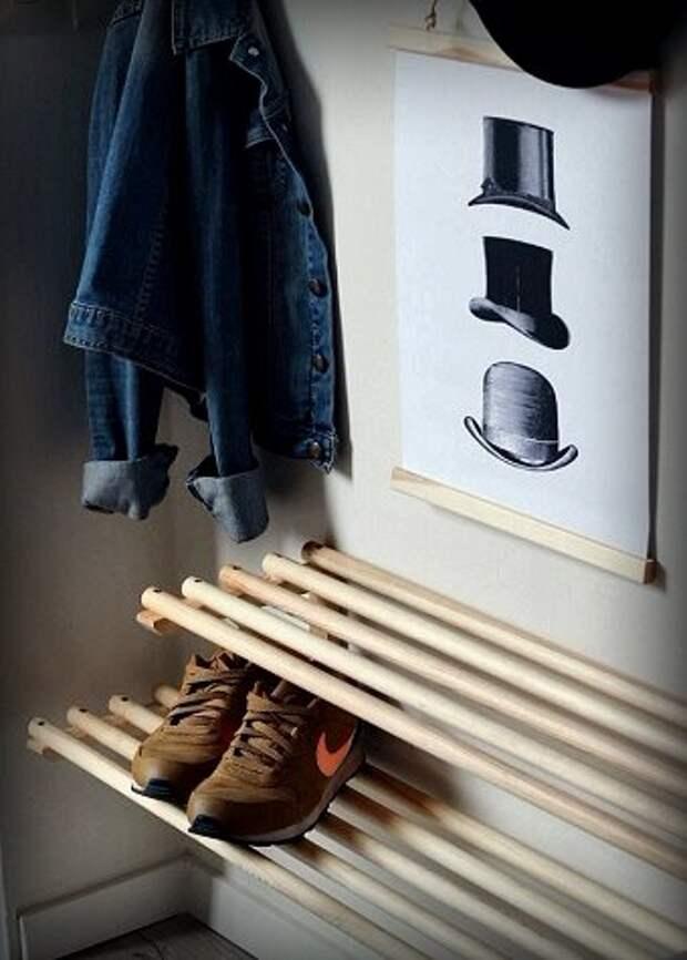 Вроде бы «мелочь», но без неё как без рук! 6 примеров самодельных обувниц, которые добавят стиля и функциональности прихожей