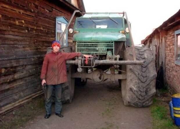 Интересные самоделки деревенских изобреталей Кулибин, авто, автомобили, деревня, самоделка, своими руками, техника, тюнинг