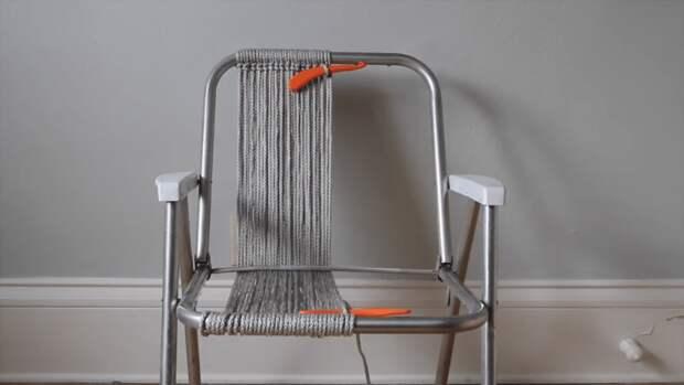 Крутое обновление каркасного кресла: оригинальная идея, достойная повторения