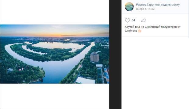 Фото дня: Щукинский полуостров с высоты