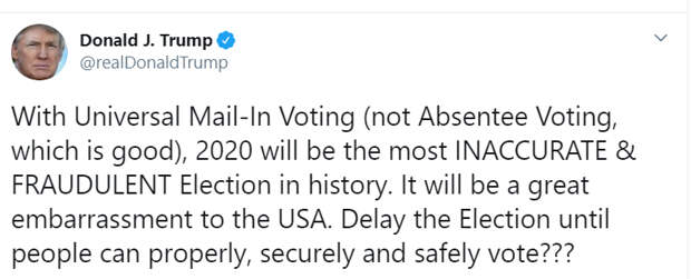 Взял и отменил. Дональд Трамп хочет перенести выборы