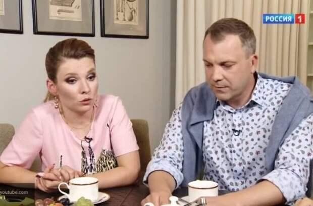 На ком был женат Евгений Попов до Ольги Скабеевой?
