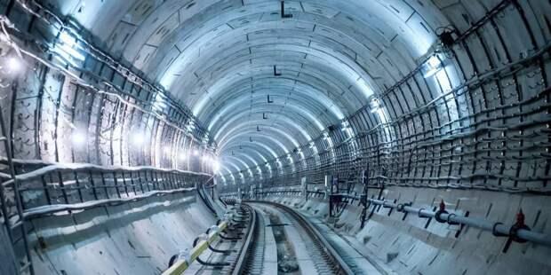 Собянин осмотрел ход строительства станции метро «Лианозово»