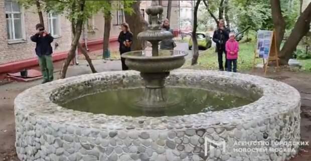 В Покровском-Стрешневе запустили старинный фонтан