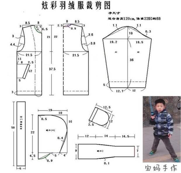 Выкройки детских курток унисекс