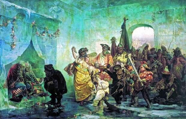 Свадьба в Ледяном доме. В. Якоби, 1878 год.   Фото: itd3.mycdn.me.