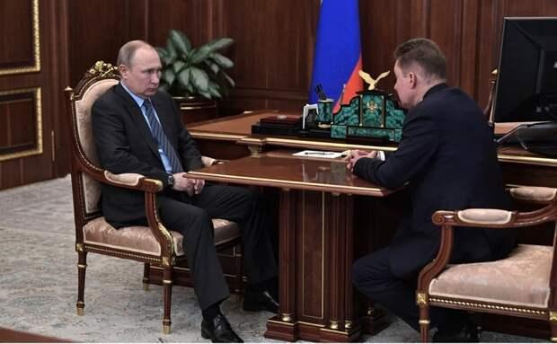 Владимир Путин принял в Кремле главу Газпрома