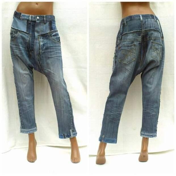Мужские джинсы из кусков (подборка)
