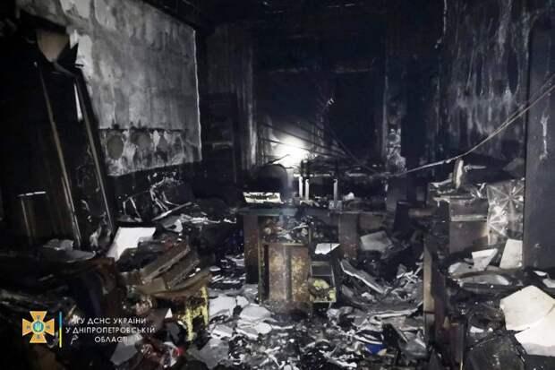 На частном предприятии в Кривом Роге произошел пожар