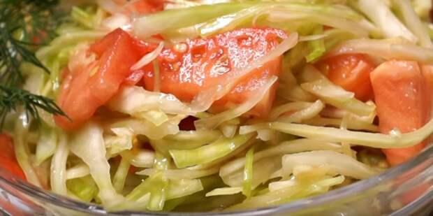 очень вкусный салат капустный