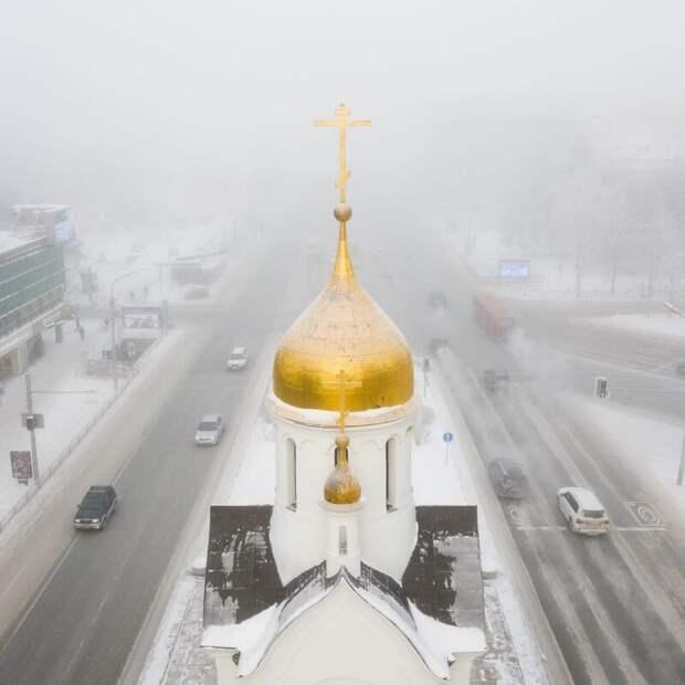 Экстремальные морозы превратили Новосибирск в«город-призрак»